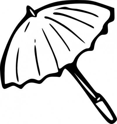 free vector Umbrella Outline clip art