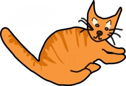 free vector Brown Cat clip art