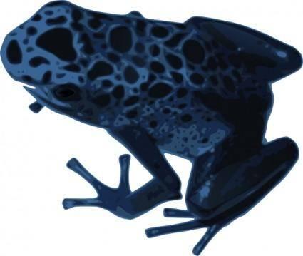free vector Azureus Frog clip art