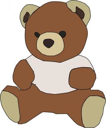 free vector Stuffed Teddy Bear clip art