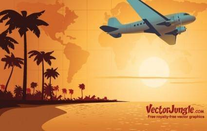 free vector FREE TRAVEL VECTOR