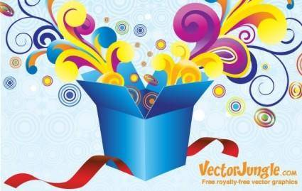 free vector FREE VECTOR GROOVY GIFT BOX