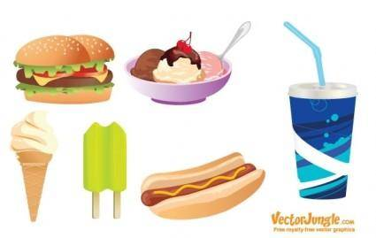 free vector FREE VECTOR JUNK FOOD