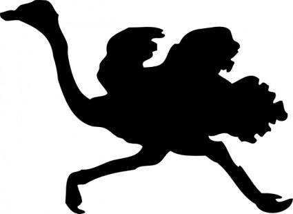 free vector Ostrich Silhouette clip art