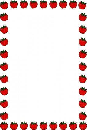free vector Strawberry Border clip art
