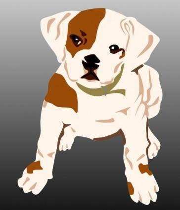 Bulldog Puppy clip art