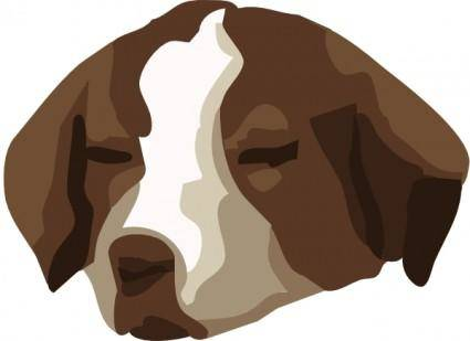 Bored Dog clip art