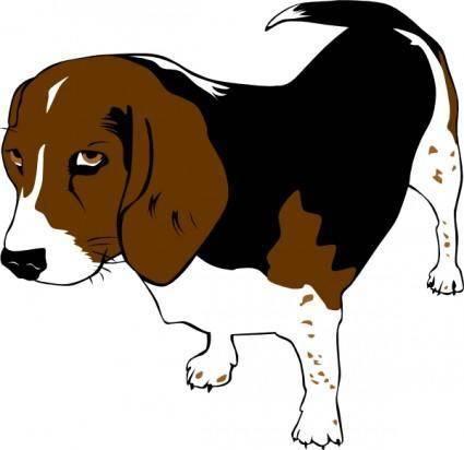 free vector Copper The Beagle clip art