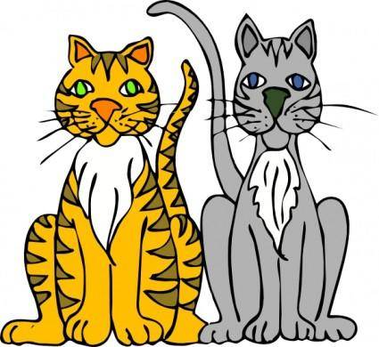 free vector Cartoon Tigers clip art
