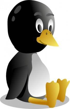 Sitting Baby Pinguin Tux clip art
