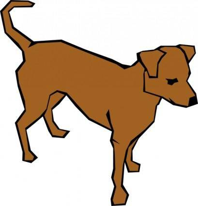 Dog 06 Drawn With Straight Lines clip art