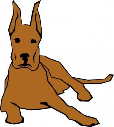 Dog 05 Drawn With Straight Lines clip art