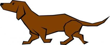 free vector Dog 04 Drawn With Straight Lines clip art