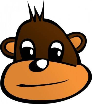 free vector Monkey Head clip art