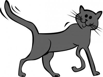 Cartoon Cat clip art 119354