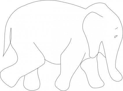 Elephant Outline clip art