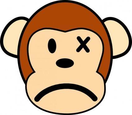 Angry Monkey clip art