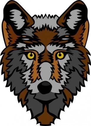 Stylized Wolf Head clip art