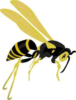 Flying Wasp clip art