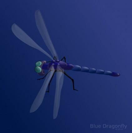 Blue Dragonfly clip art