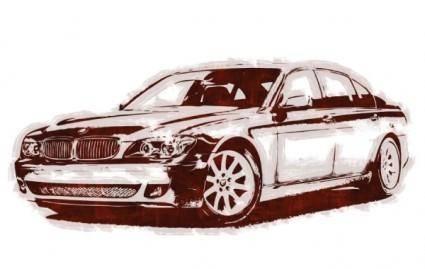 free vector BMW 760Li