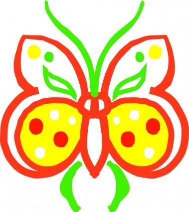 Farfalla Stilizzata clip art