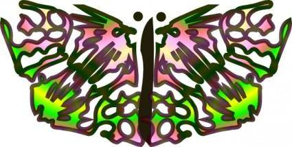 free vector Butterfly From Star clip art