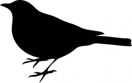 Profile Of A Bird clip art
