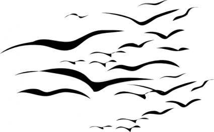 free vector Flock Of Birds clip art
