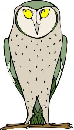 Staring Standing Owl clip art