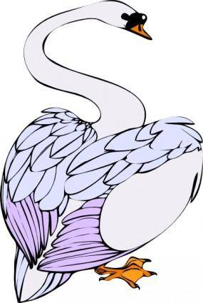 Swan Walking clip art