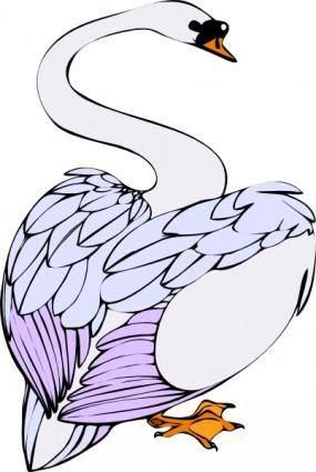 Swan Walking clip art