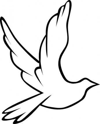 free vector Flying Dove clip art