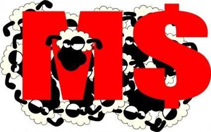 Sheep Sticking Its Head clip art