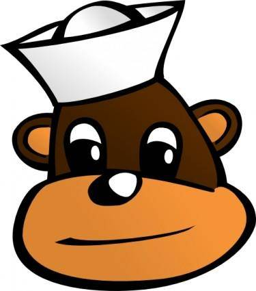 free vector Sailor Monkey clip art