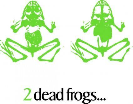 free vector 2 Dead Frogs clip art