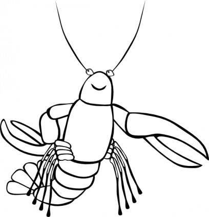 Crawfish (b And W) clip art
