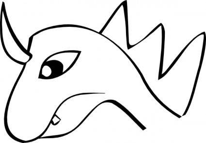 free vector Dragon Head clip art