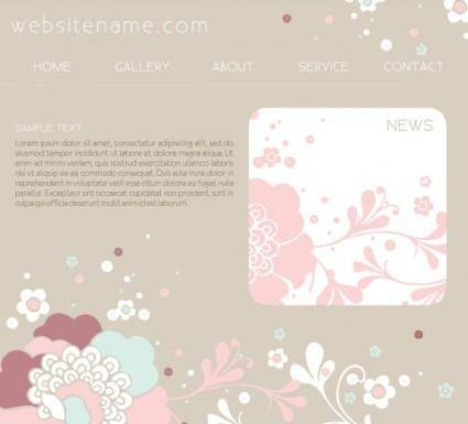 Pink website design template vector