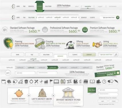 Sophisticated web design elements 04 vector