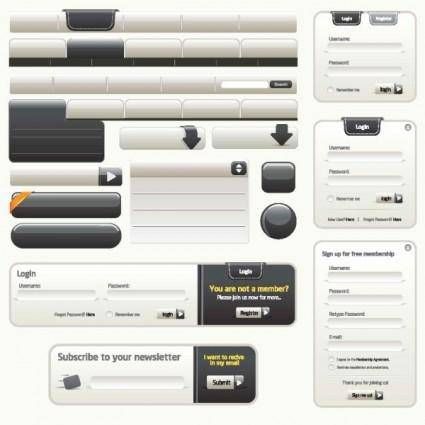 Sophisticated web design elements 01 vector