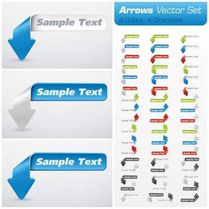 free vector Common label web 02 vector