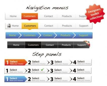 Sophisticated web page navigation bar vector