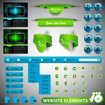 free vector Practical web design elements 02 vector