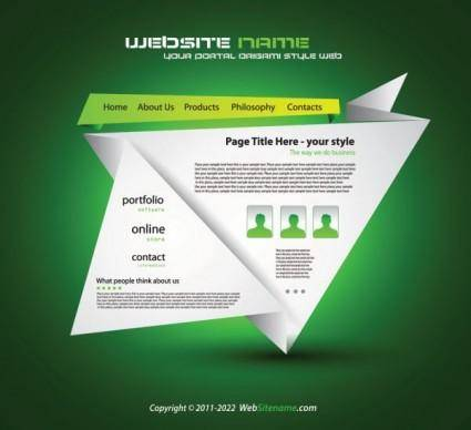 Origami website design 03 vector