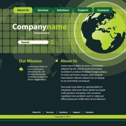 free vector Sense of technology website template 01 vector