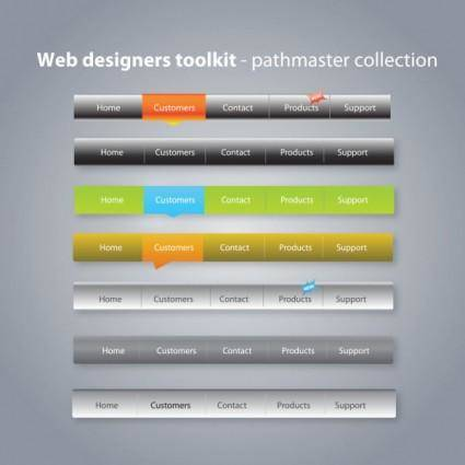 Practical web design kit 01 vector
