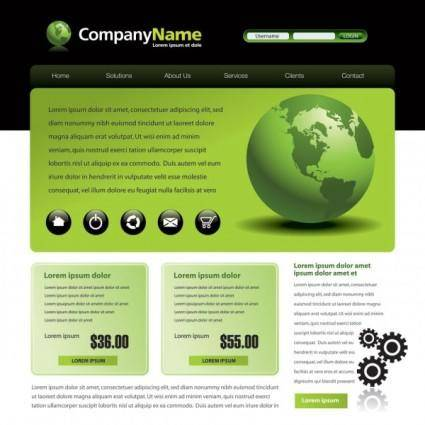free vector Sophisticated and practical web site template 01 vector