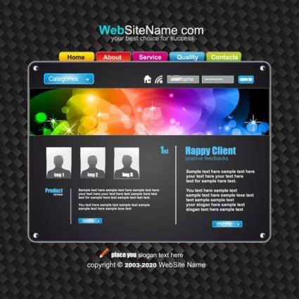 free vector The trend of dynamic website templates 07 vector