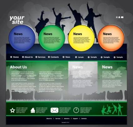 free vector The trend of dynamic website templates 03 vector